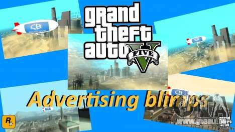 La publicité dirigeables pour GTA San Andreas