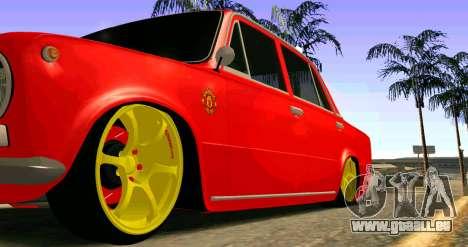 VAZ 2101 MU pour GTA San Andreas vue arrière