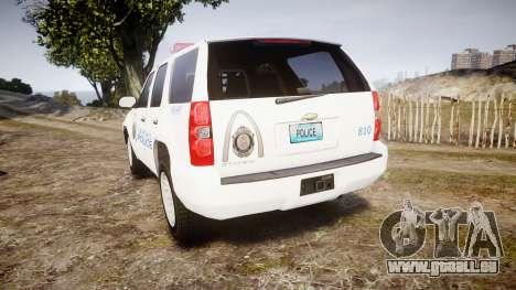 Chevrolet Tahoe Metropolitan Police [ELS] pour GTA 4 Vue arrière de la gauche