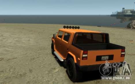 Mammoth Patriot Pickup pour GTA 4 est une vue de l'intérieur