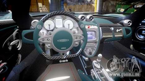 Pagani Hauyra pour GTA 4 Vue arrière