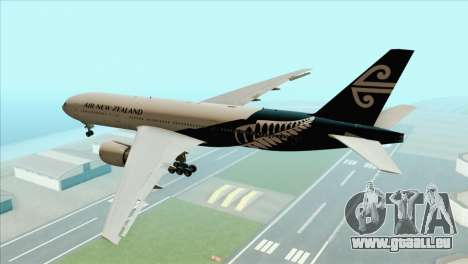B777-200ER Air New Zealand Black Tail Livery pour GTA San Andreas laissé vue