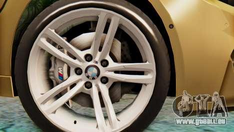 BMW M4 2015 IVF pour GTA San Andreas sur la vue arrière gauche