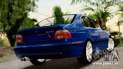 BMW 540i E39 pour GTA San Andreas laissé vue