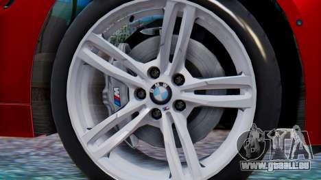BMW M4 2015 HQLM für GTA San Andreas zurück linke Ansicht