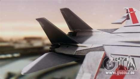 F-14D Tomcat Macross Red pour GTA San Andreas sur la vue arrière gauche
