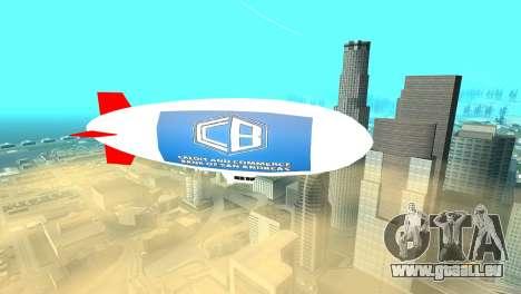 La publicité dirigeables pour GTA San Andreas deuxième écran