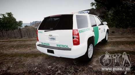 Chevrolet Tahoe Border Patrol [ELS] für GTA 4 hinten links Ansicht