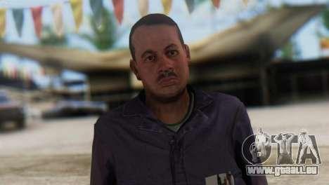 Uborshik Skin from GTA 5 pour GTA San Andreas troisième écran
