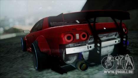 Nissan Skyline GT-R R32 Battle Machine für GTA San Andreas zurück linke Ansicht