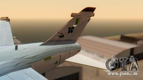 Embraer A-1 AMX FAB pour GTA San Andreas sur la vue arrière gauche