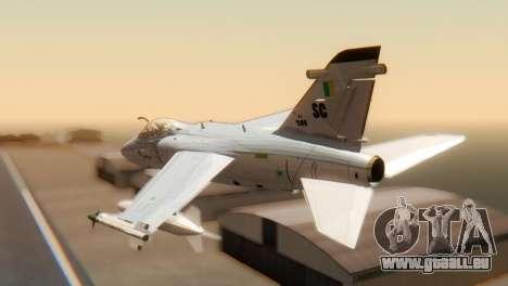 Embraer A-1 AMX FAB pour GTA San Andreas laissé vue