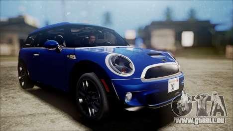 Mini Cooper Clubman 2011 Sket Dance pour GTA San Andreas sur la vue arrière gauche