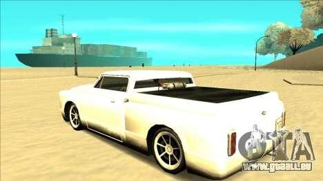 Slamvan Final pour GTA San Andreas vue de dessous