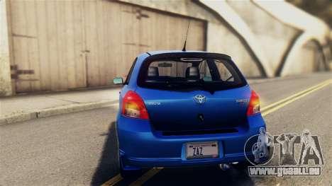 Toyota Yaris S 2008 pour GTA San Andreas vue de côté