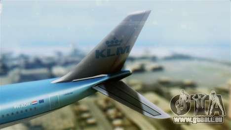 Airbus A330-200 KLM New Livery pour GTA San Andreas sur la vue arrière gauche