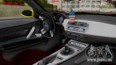 BMW Z4 Bau Ens für GTA San Andreas rechten Ansicht
