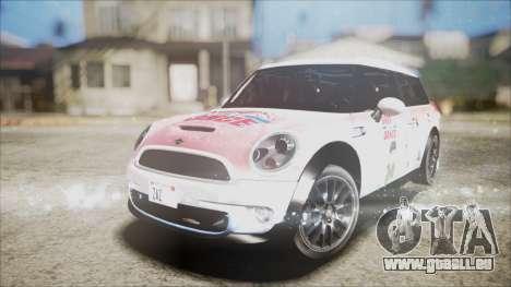 Mini Cooper Clubman 2011 Sket Dance pour GTA San Andreas vue de dessous