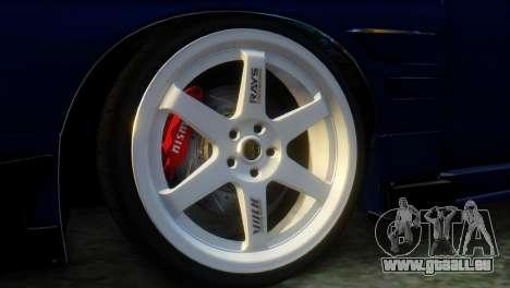 Nissan 180SX Uras Bodykit pour GTA San Andreas sur la vue arrière gauche