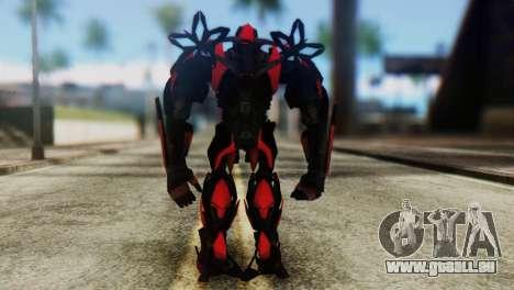 Stinger Skin from Transformers pour GTA San Andreas troisième écran