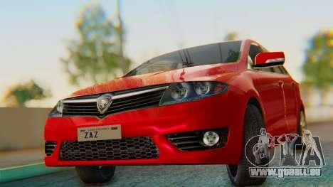 Proton Suprima S pour GTA San Andreas sur la vue arrière gauche