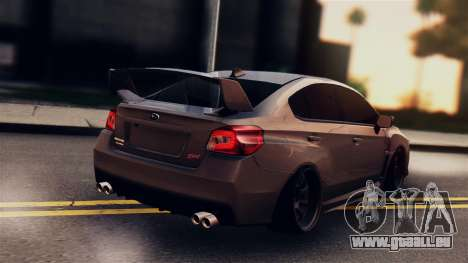 Subaru Impreza WRX STI 2015 pour GTA San Andreas laissé vue