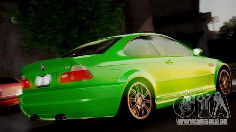 BMW M3 E46 v2 pour GTA San Andreas laissé vue