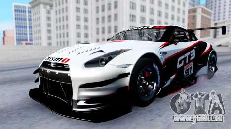 Nissan GT-R (R35) GT3 2012 PJ2 pour GTA San Andreas vue de dessous