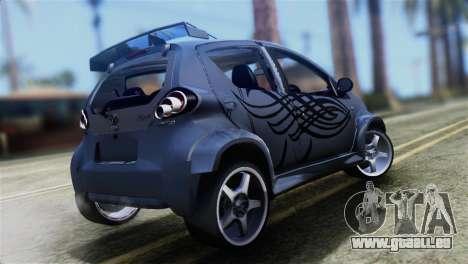 Toyota Aygo Sporting pour GTA San Andreas laissé vue