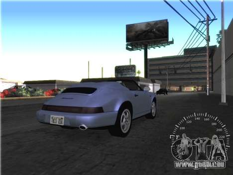 Simple compteur de vitesse pour GTA San Andreas quatrième écran