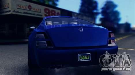 GTA 5 Enus Windsor IVF pour GTA San Andreas sur la vue arrière gauche