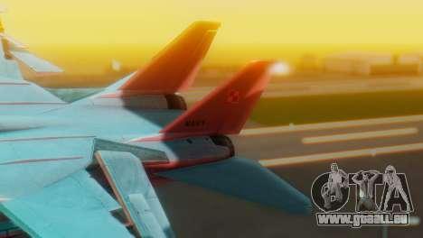F-14A Tomcat Marynarka Wojenna RP für GTA San Andreas zurück linke Ansicht