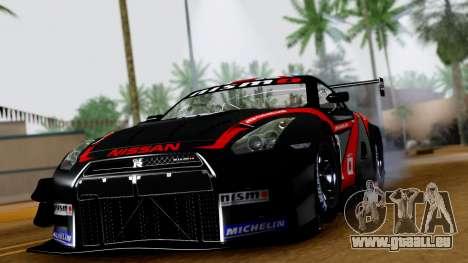 Nissan GT-R (R35) GT3 2012 PJ3 pour GTA San Andreas vue arrière