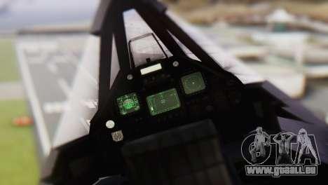 Lockheed F-117 Nighthawk ACAH pour GTA San Andreas vue de droite