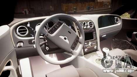 Bentley Continental GT Platinum Motorsports pour GTA 4 est une vue de l'intérieur