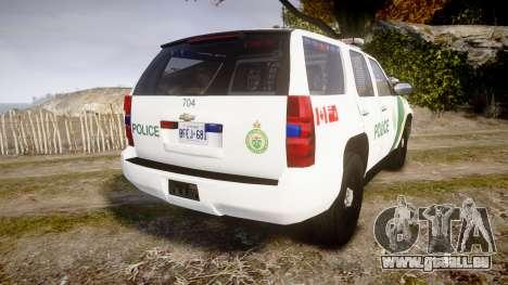 Chevrolet Tahoe Niagara Falls Parks Police [ELS] für GTA 4 hinten links Ansicht