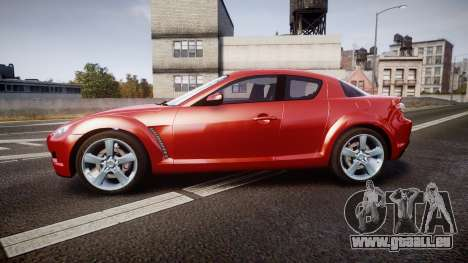 Mazda RX-8 2006 v3.2 Advan tires für GTA 4 linke Ansicht