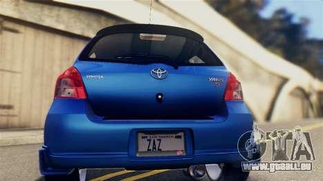 Toyota Yaris S 2008 pour GTA San Andreas vue de droite