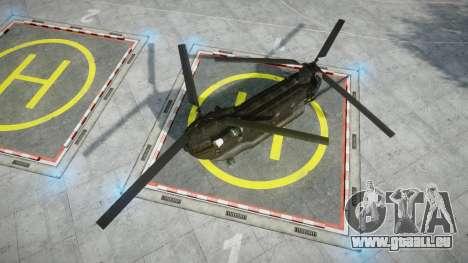 Boeing CH-47G Chinook [EPM] für GTA 4 hinten links Ansicht