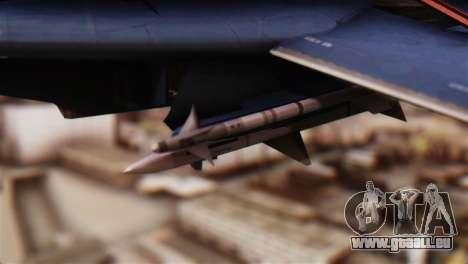 F-14A Tomcat Blue Angels pour GTA San Andreas vue de droite