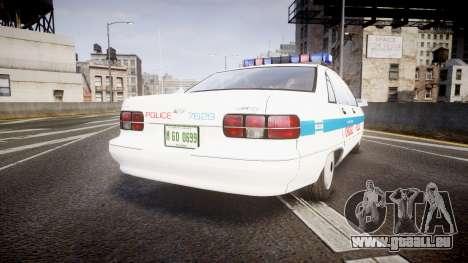 Chevrolet Caprice Chicago Police [ELS] pour GTA 4 Vue arrière de la gauche