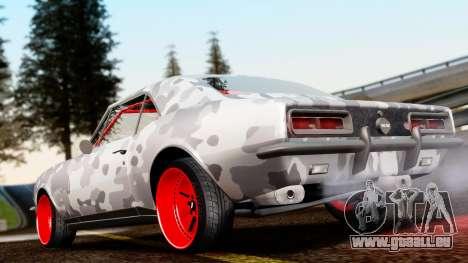 Chevrolet Camaro SS Camo Drift pour GTA San Andreas sur la vue arrière gauche