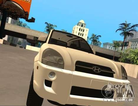 Hyundai Tucson pour GTA San Andreas laissé vue