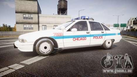 Chevrolet Caprice Chicago Police [ELS] pour GTA 4 est une gauche
