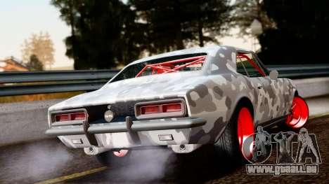 Chevrolet Camaro SS Camo Drift pour GTA San Andreas laissé vue