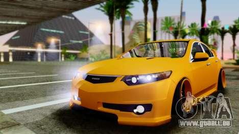 Acura TSX Hellaflush 2010 pour GTA San Andreas laissé vue