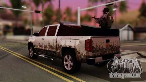 Chevrolet Silverado Enlodada pour GTA San Andreas laissé vue