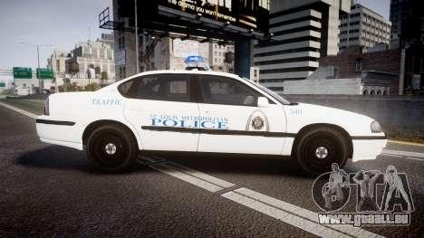 Chevrolet Impala Metropolitan Police [ELS] Traf pour GTA 4 est une gauche