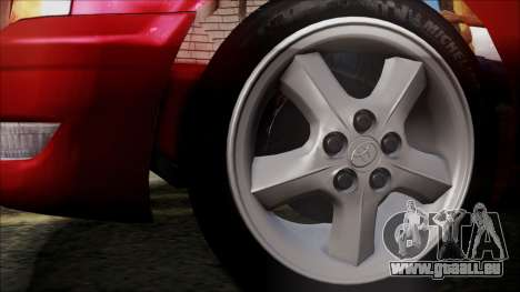 Toyota Chasher Tourer V pour GTA San Andreas sur la vue arrière gauche