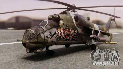 Mil Mi-24V Czech Air Force Tigermeet pour GTA San Andreas